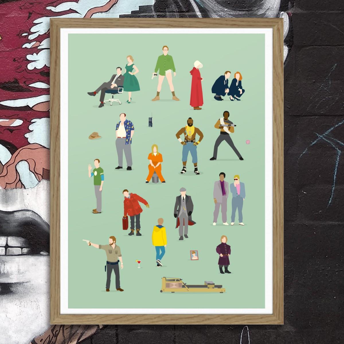 """""""Serienhelden"""" Premium Poster von HANDS OF GOD"""