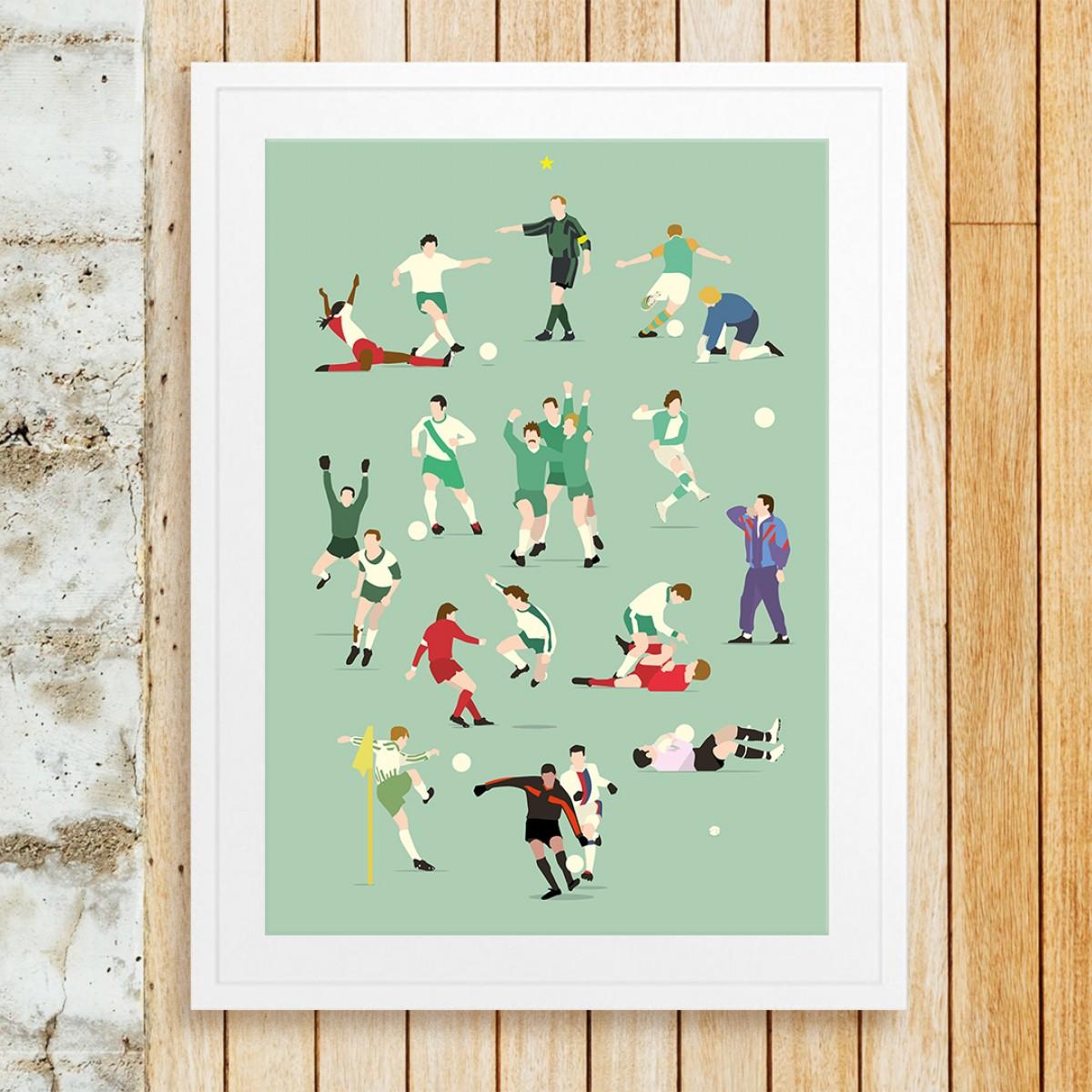 """Bremen Legends"" Fußball-Poster von HANDS OF GOD FOOTBALL"