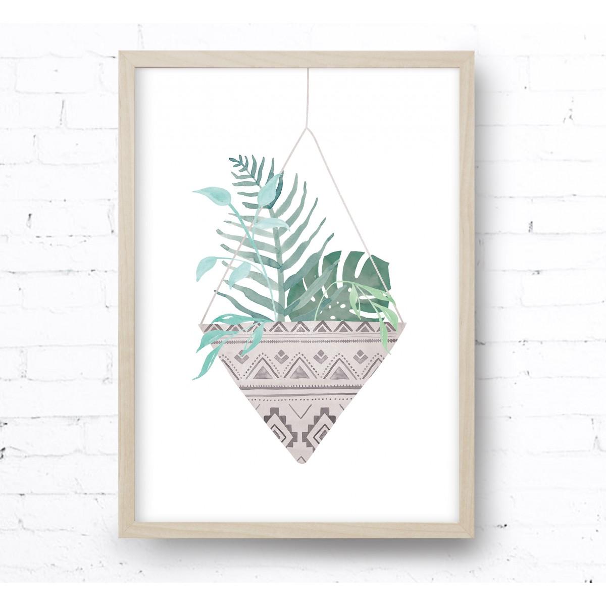 Kruth Design POSTER / HANGING PLANT TAUPE