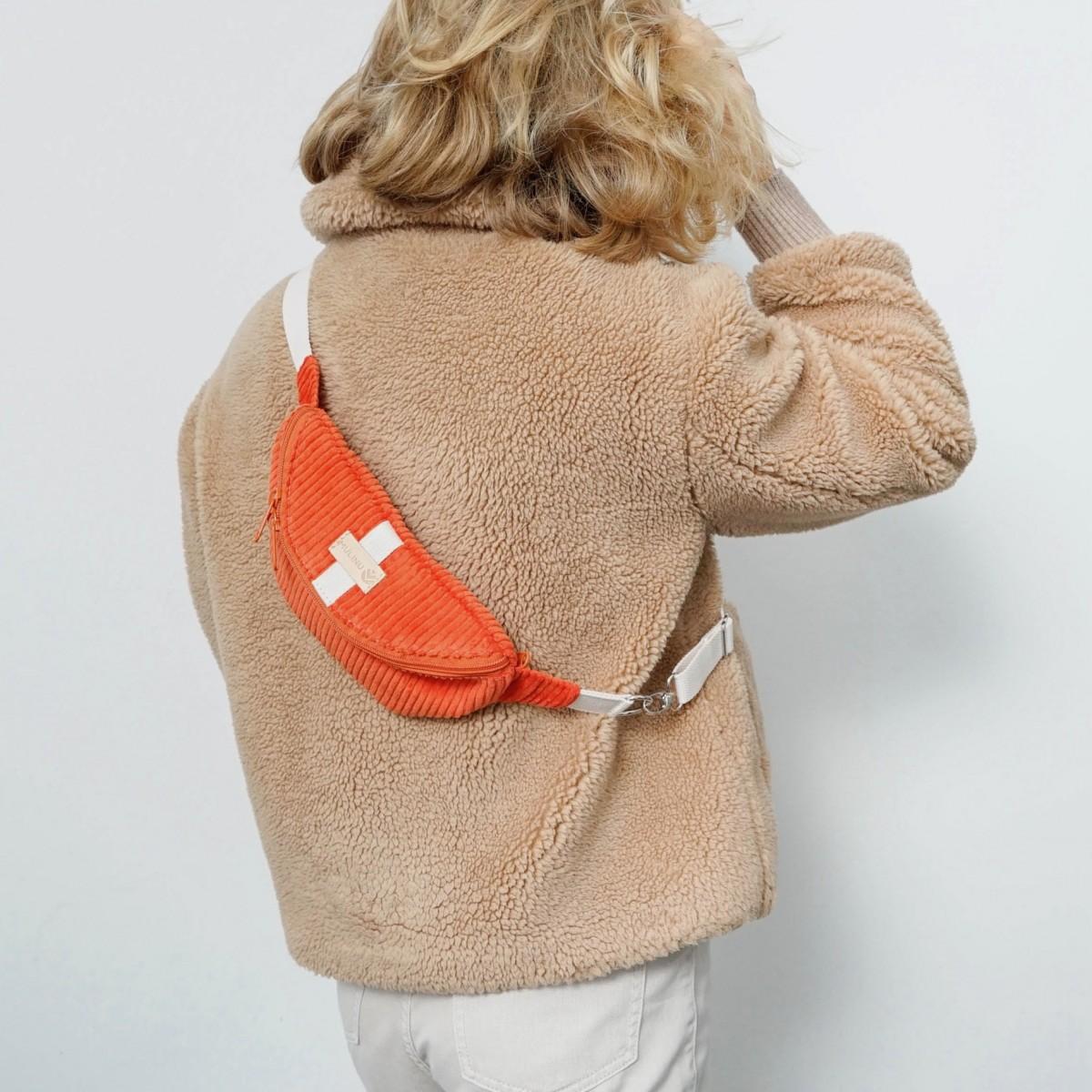 MULINU - Bauchtasche   Hipbag HENNES S Breitcord Orange