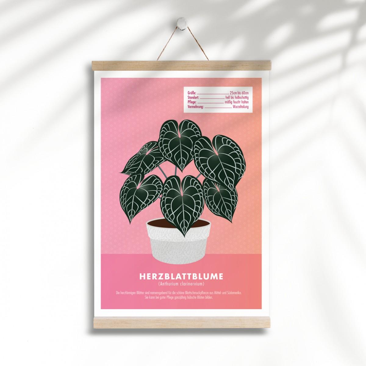 "Hey Urban Monkey - A4 Poster - ""Herzblattblume"""
