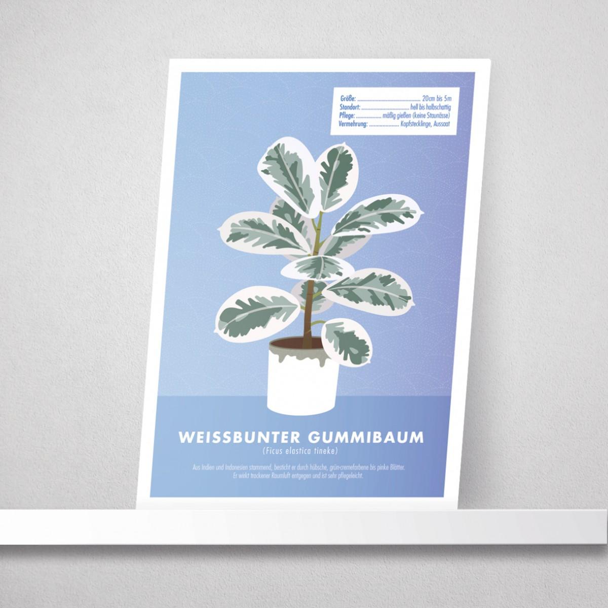 "Hey Urban Monkey - A4 Poster - ""Gummibaum"""