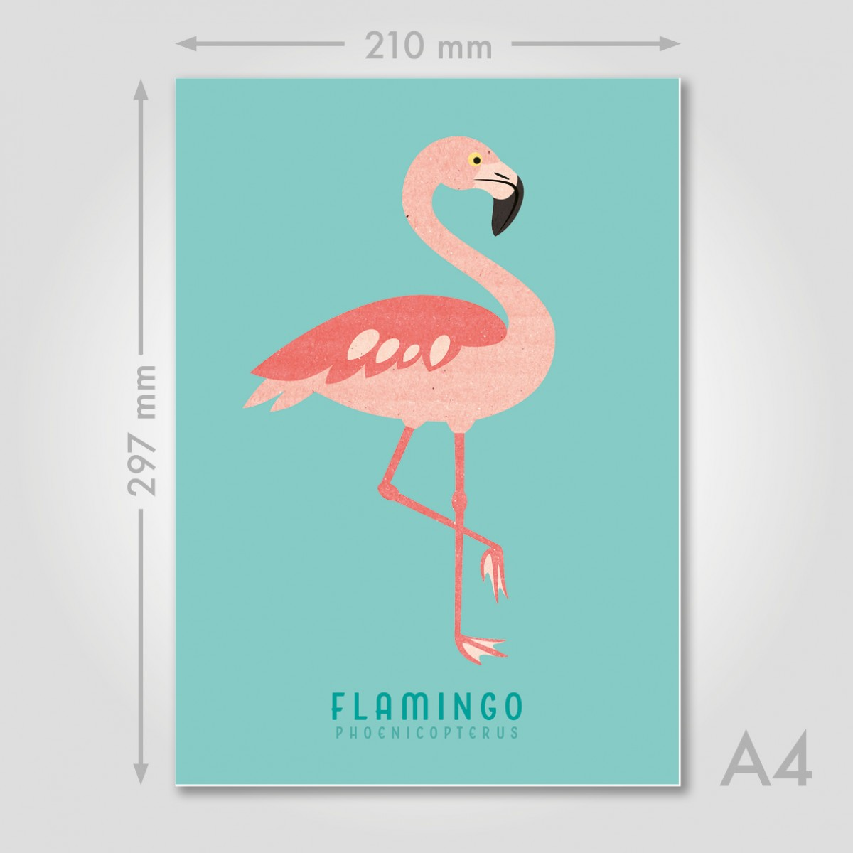 "Hey Urban Monkey - A4 Poster - ""Flamingo"""