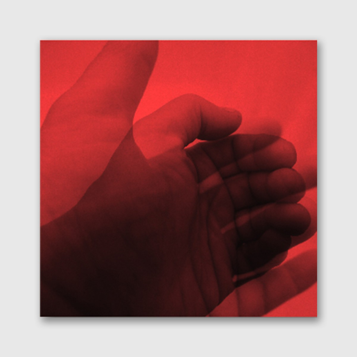 """ZEITLOOPS """"Hände"""", 30x30cm, Galerie-Rahmung, schwarz"""