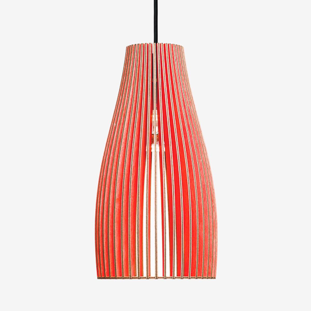 ENA L Pendelleuchte aus Holz (rot)
