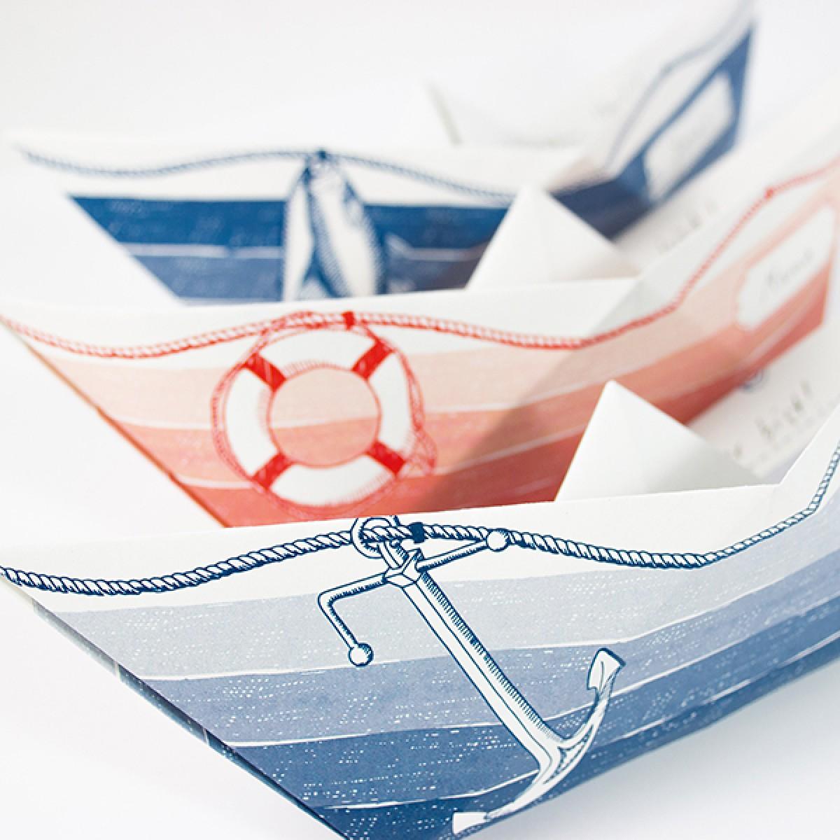 Grußboote 3er Set mit Umschlägen