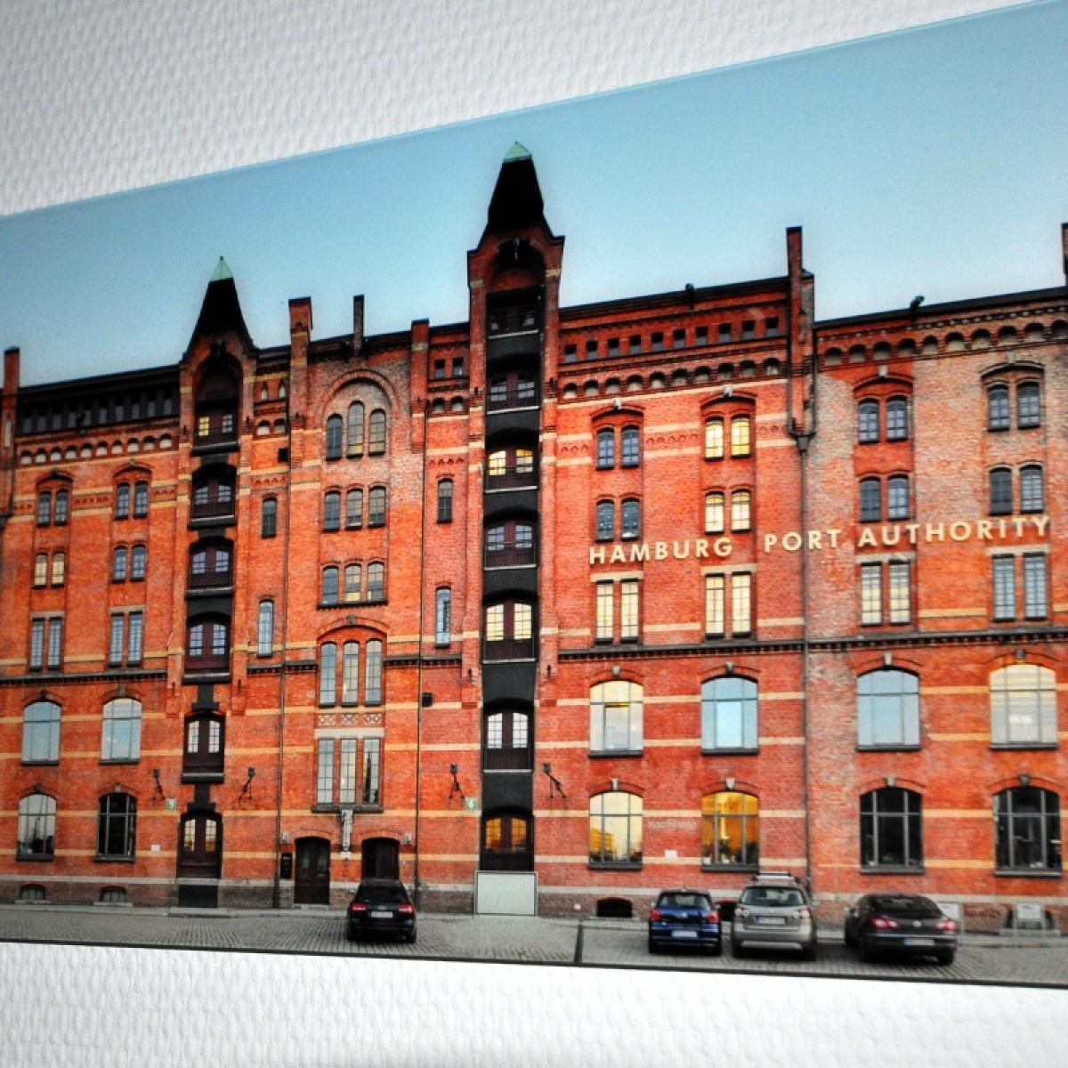 PanoramaStreetline Hamburg Speicherstadt Gallery Print