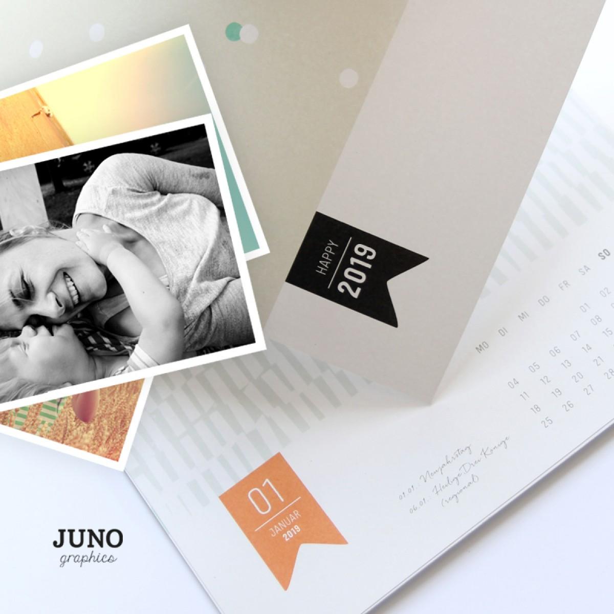 JUNOgraphics 2020 Fotokalender, Bastelkalender, A4 DIY Kalender