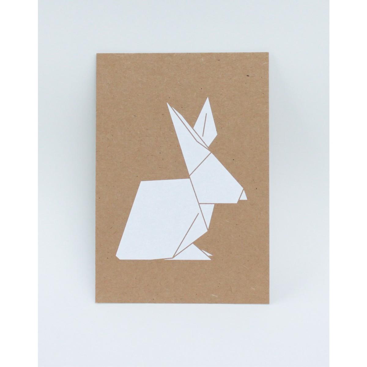 Postkarte mit Origamimotiv