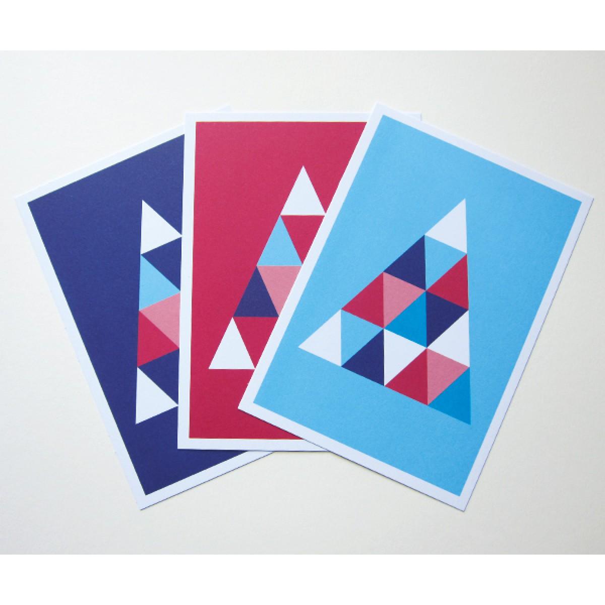 "3 Held&Lykke Postkarten ""TriangleMail"""