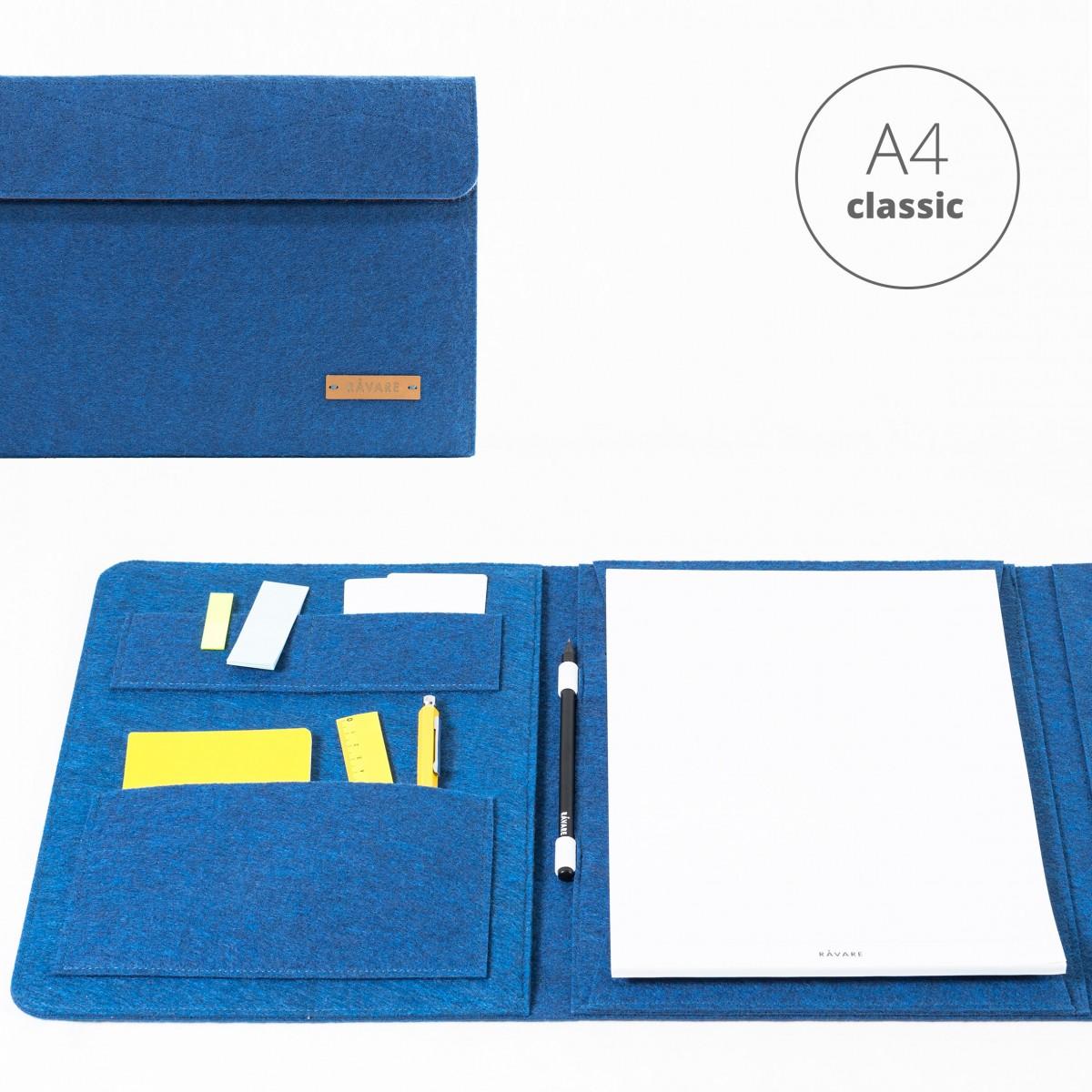 RÅVARE Dokumententasche Dokumentenmappe für A4-Dokumente und Tablet ≤12.3″ in blau [HELLA]