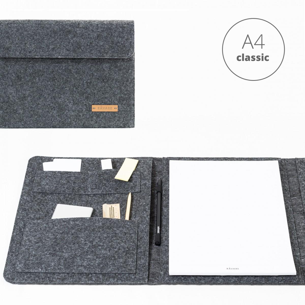 RÅVARE Dokumententasche Dokumentenmappe für A4-Dokumente und Tablet ≤12.3″ in grau [HELLA]