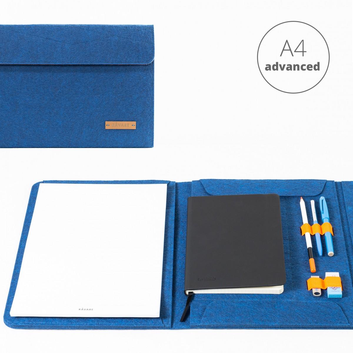 RÅVARE Dokumentenmappe für A4-Dokumente, Kalender, Planer und Tablet ≤12.3″ in blau [HENNE]