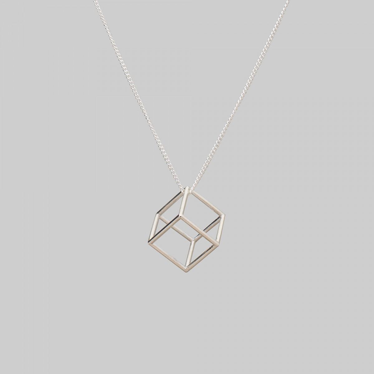 "Teresa Gruber Anhänger ""platonic solids- Hexaeder"", 925 Silber"