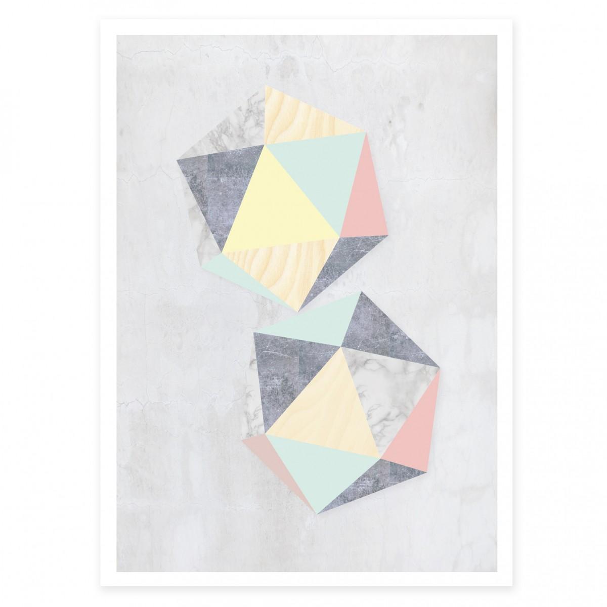 KAMI. poster – hexagon
