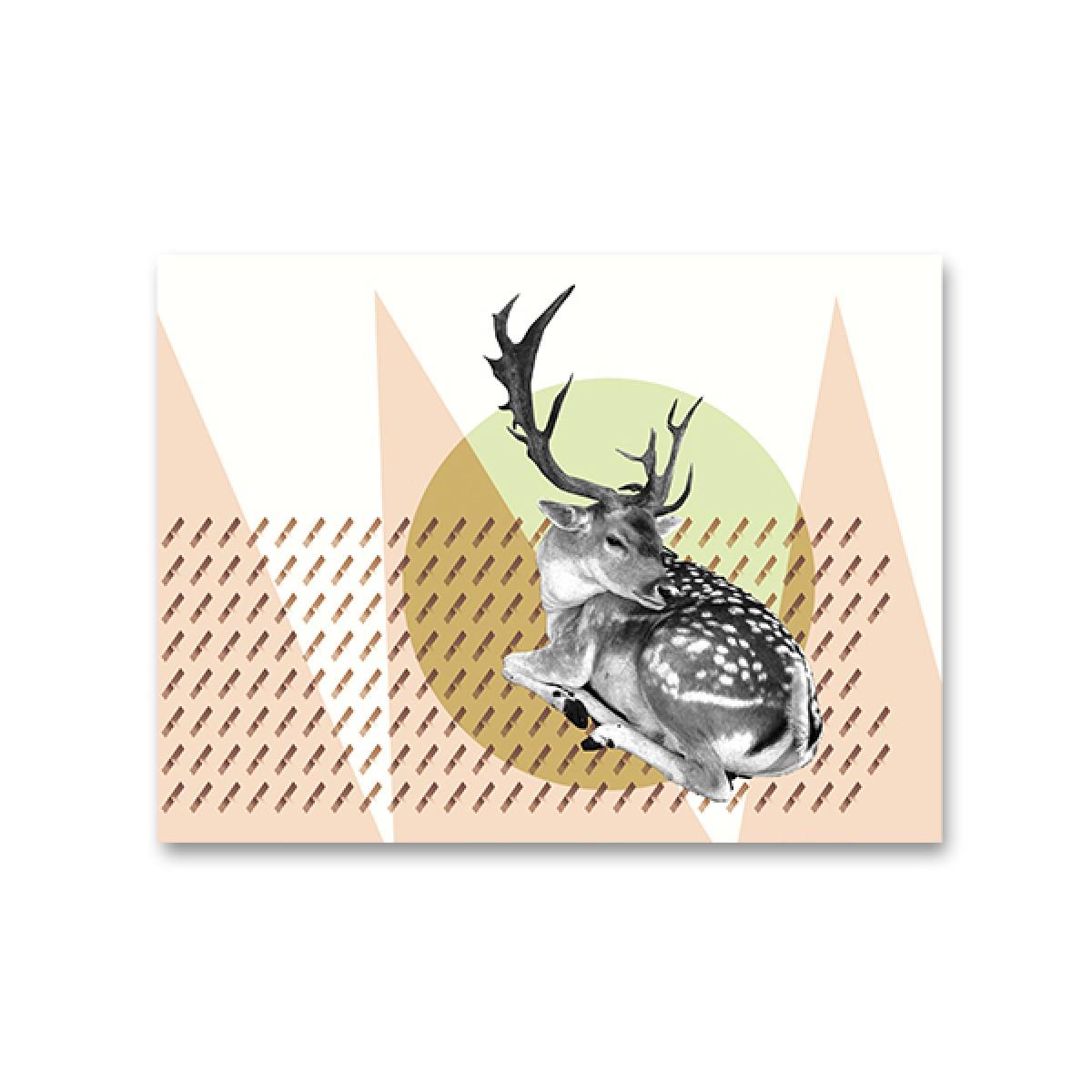 """ZEITLOOPS """"Hirsch"""", Fineartprint, 45x60cm"""