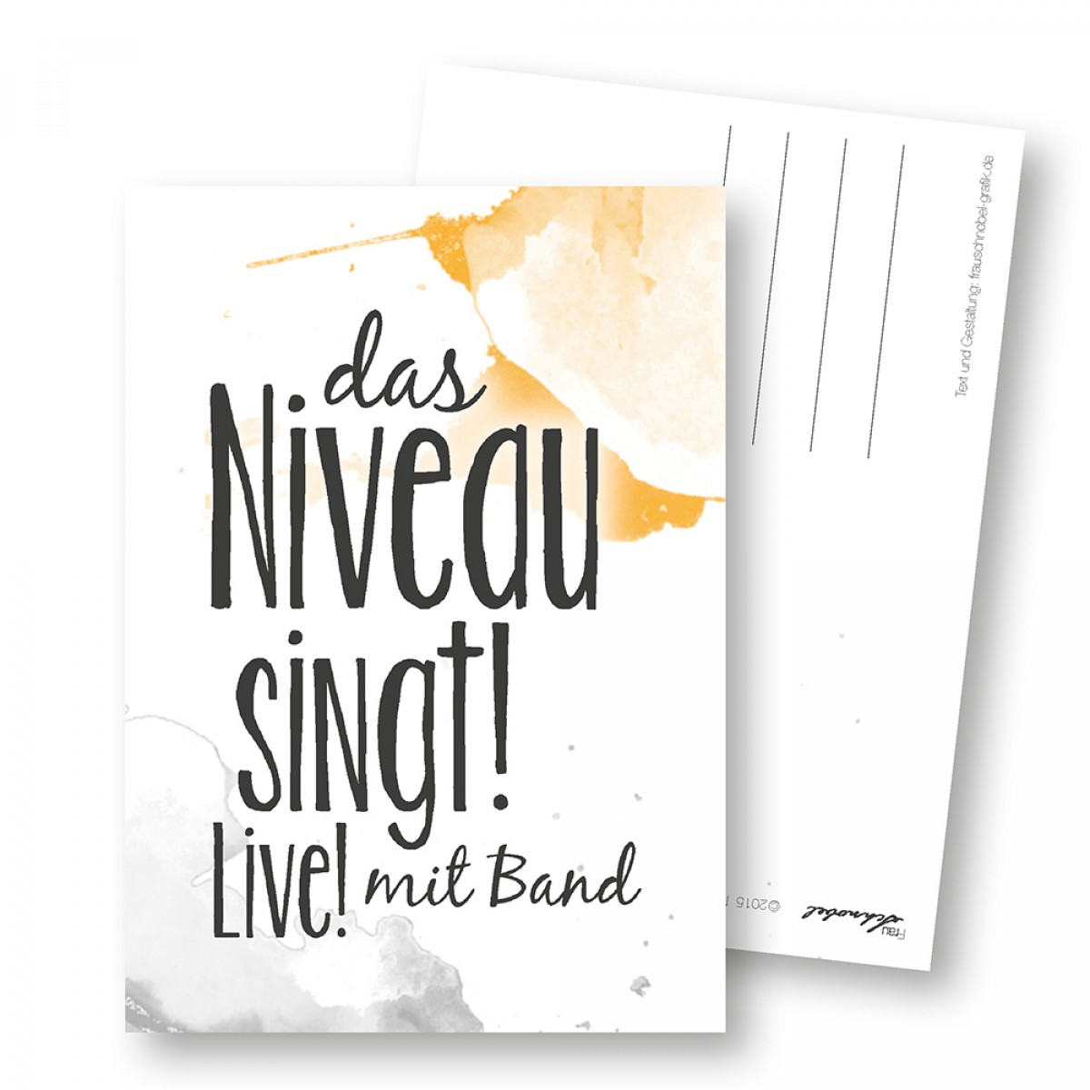 "Martina Olonschek | Postkarte ""Niveau"" 5er-Set"