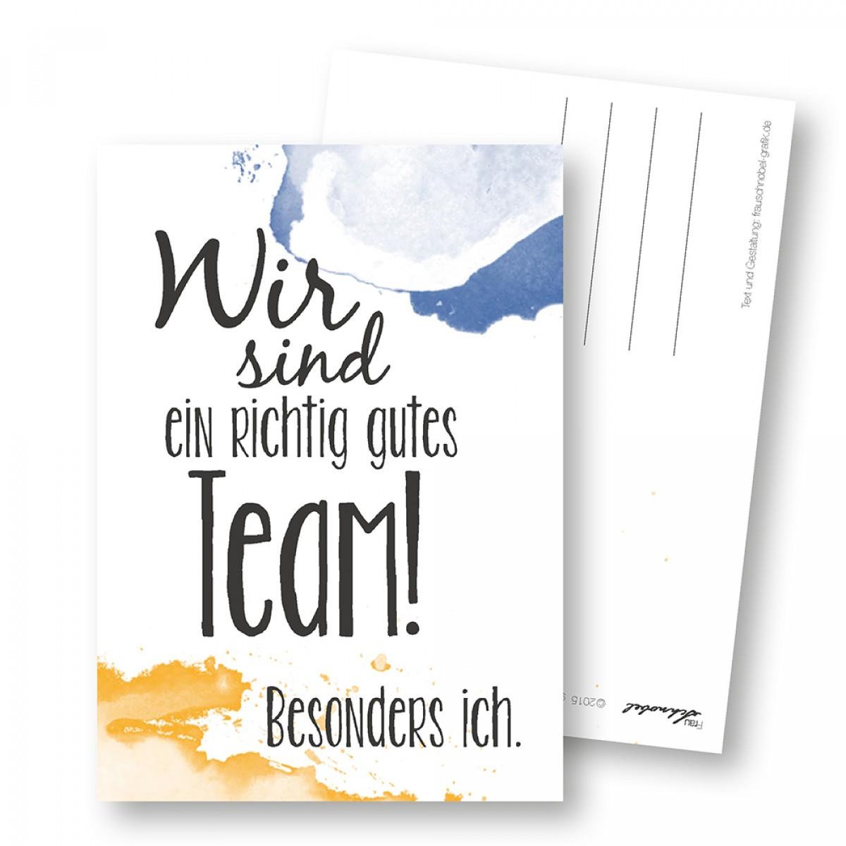 "Martina Olonschek | Postkarte ""gutes Team"" 5er-Set"