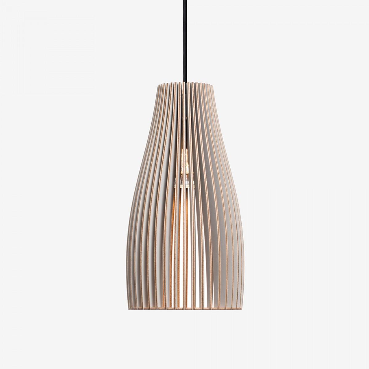 ENA Pendelleuchte aus Holz (grau)
