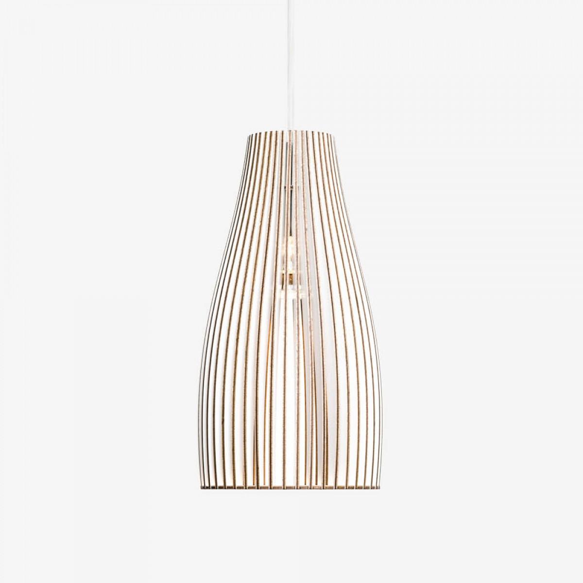 ENA Pendelleuchte aus Holz (weiß)