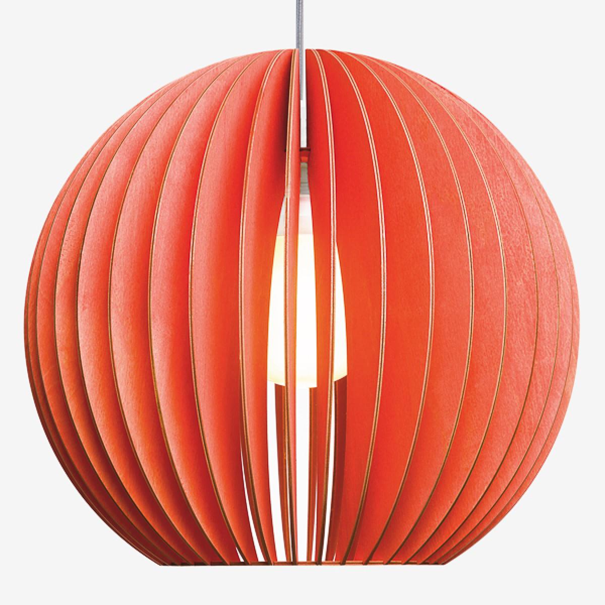 AION XL Pendelleuchte aus Holz (rot)