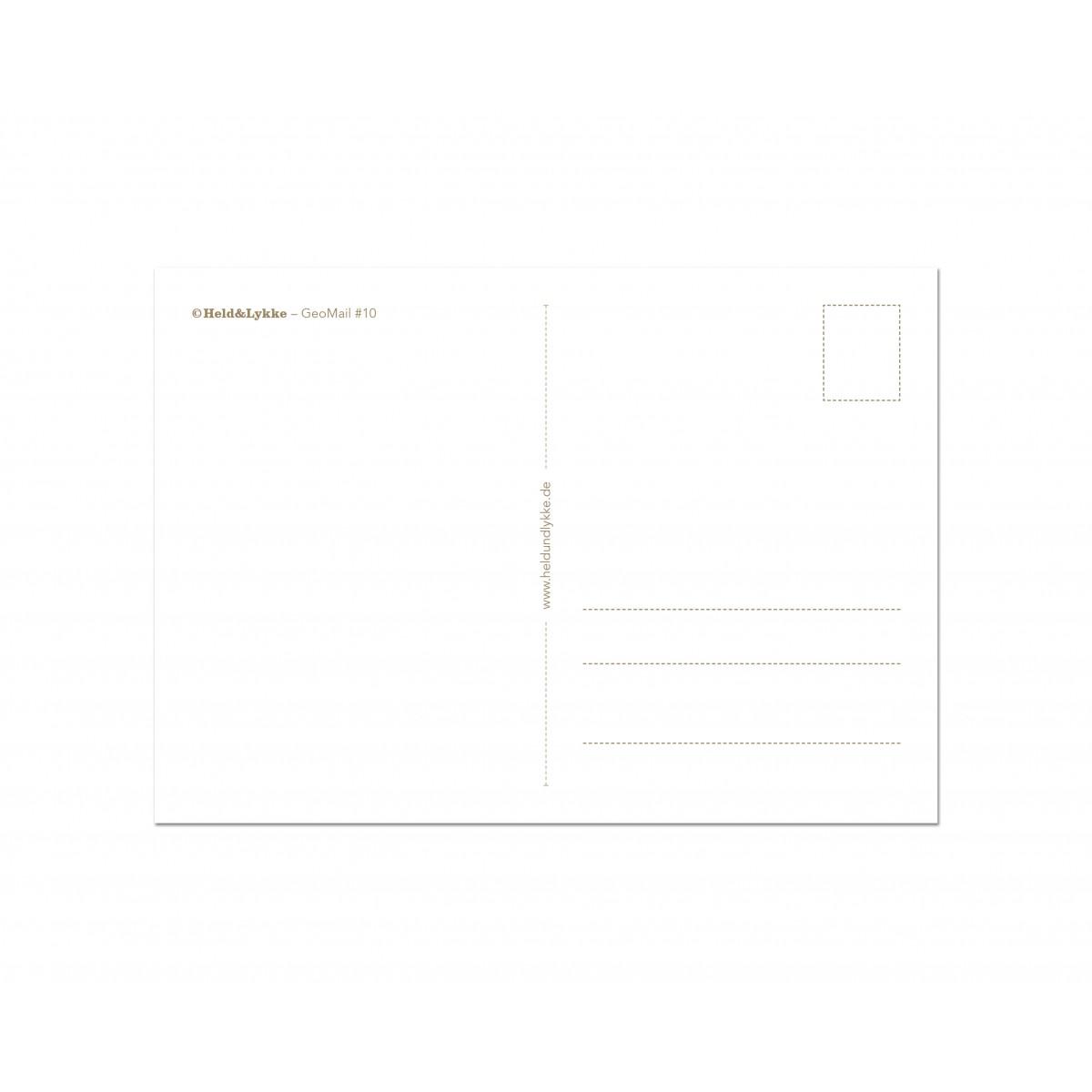 """Held&Lykke 3 Weihnachtskarten """"GeoMail II"""""""