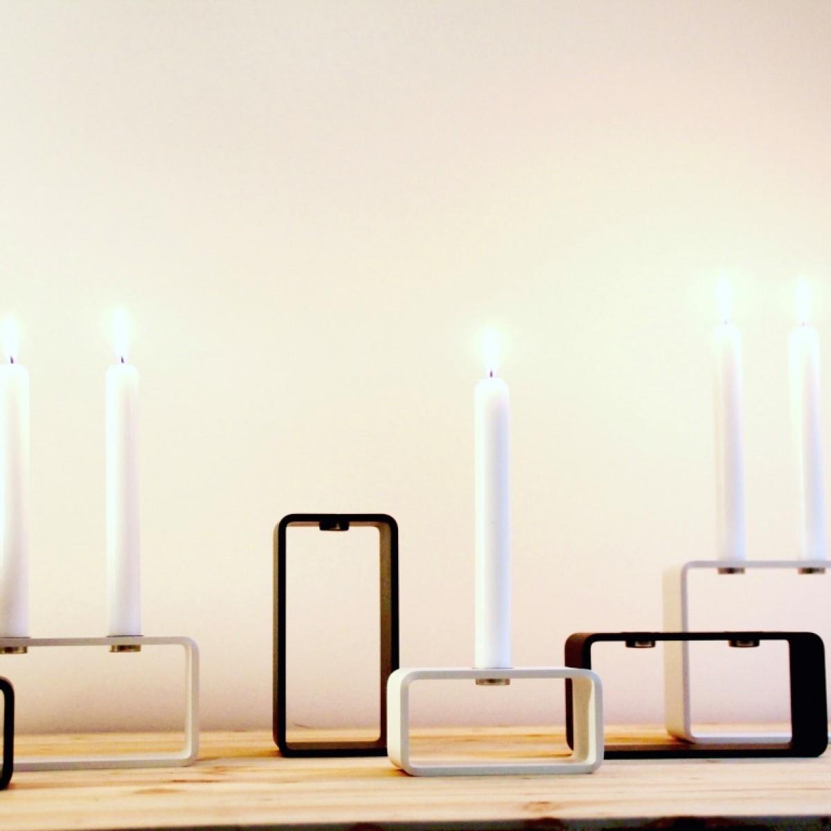 HauszeitDesign 1glow high Kerzenständer