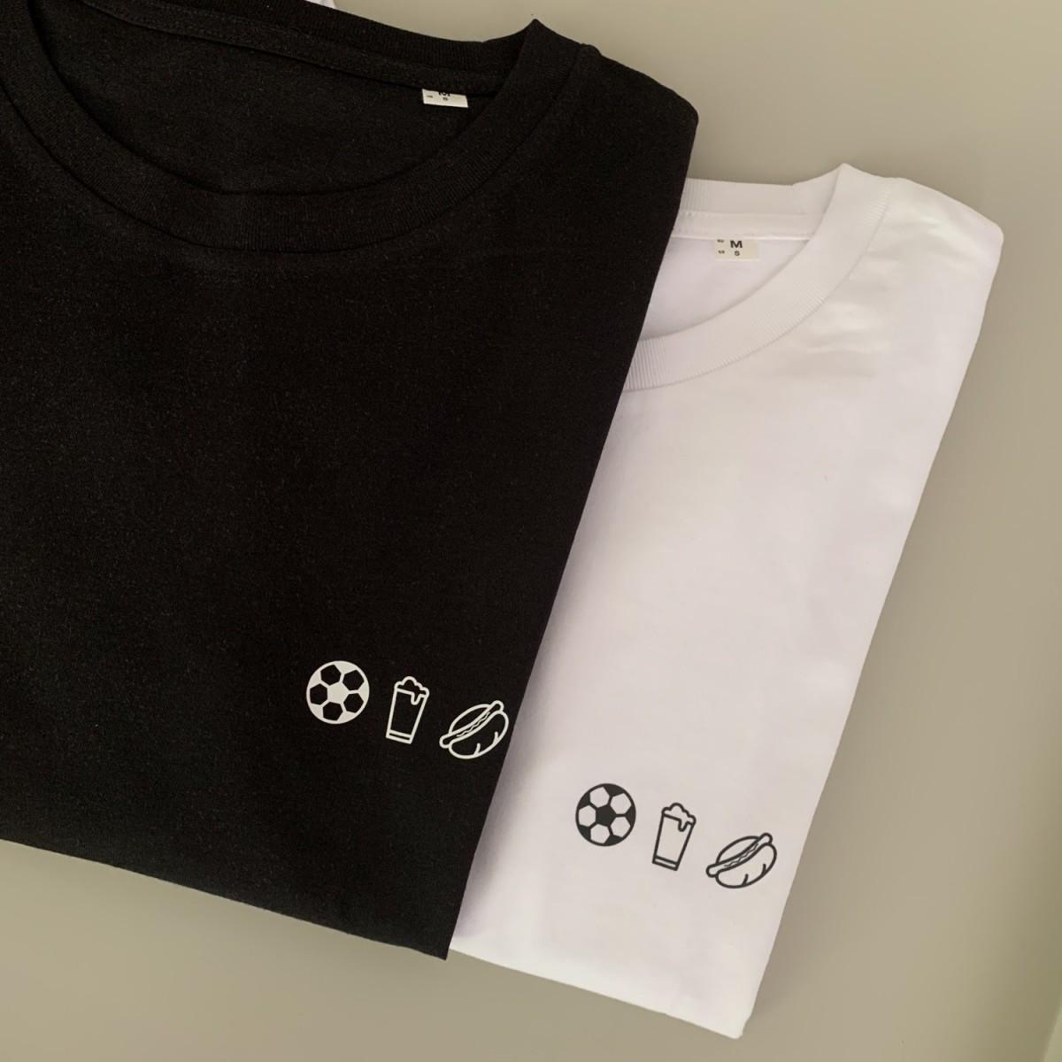 Charles / Shirt Fussball, Bier, Bratwurst / 100% Biobaumwolle / Fair Wear zertifiziert