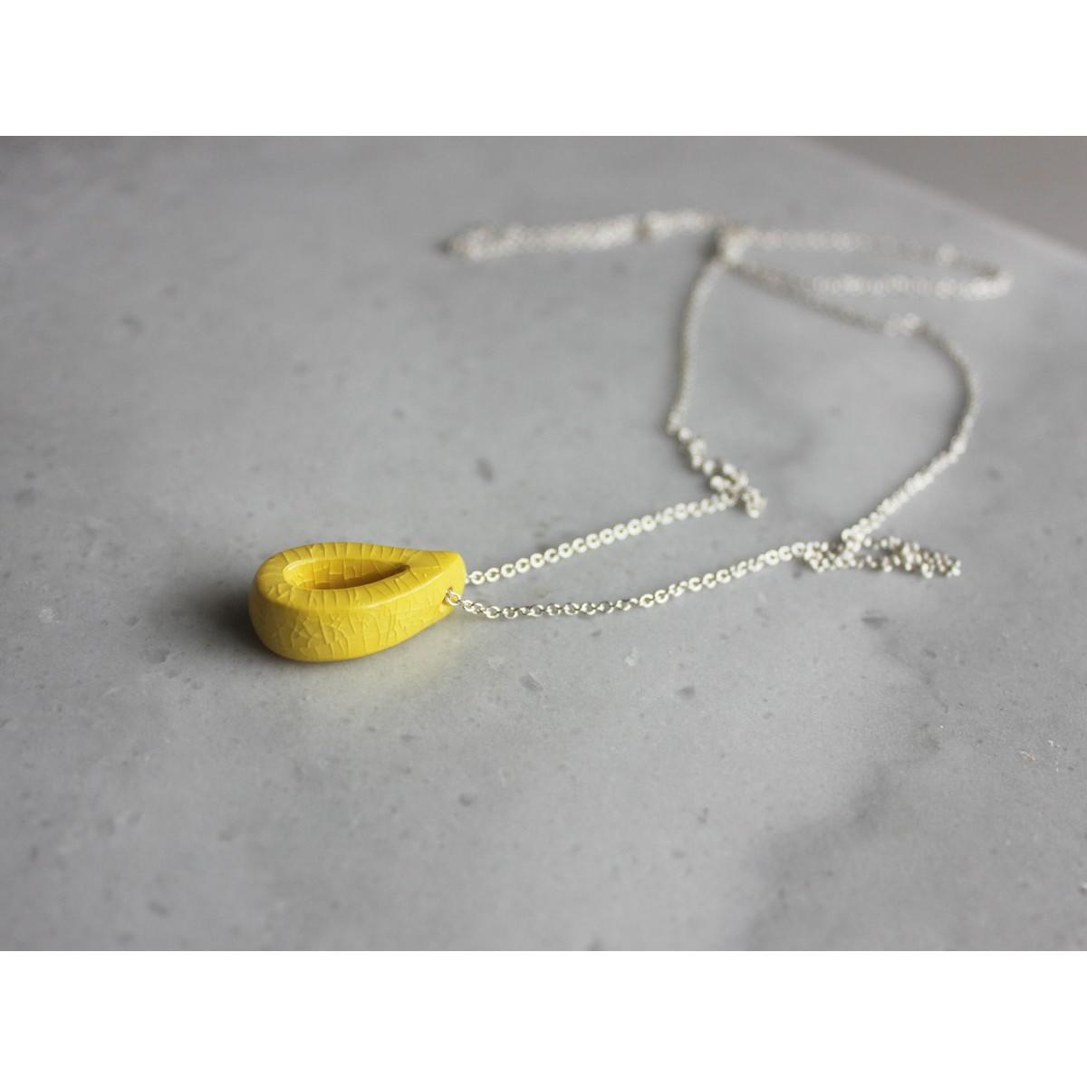 Skelini - Keramiktropfenkette in gelb