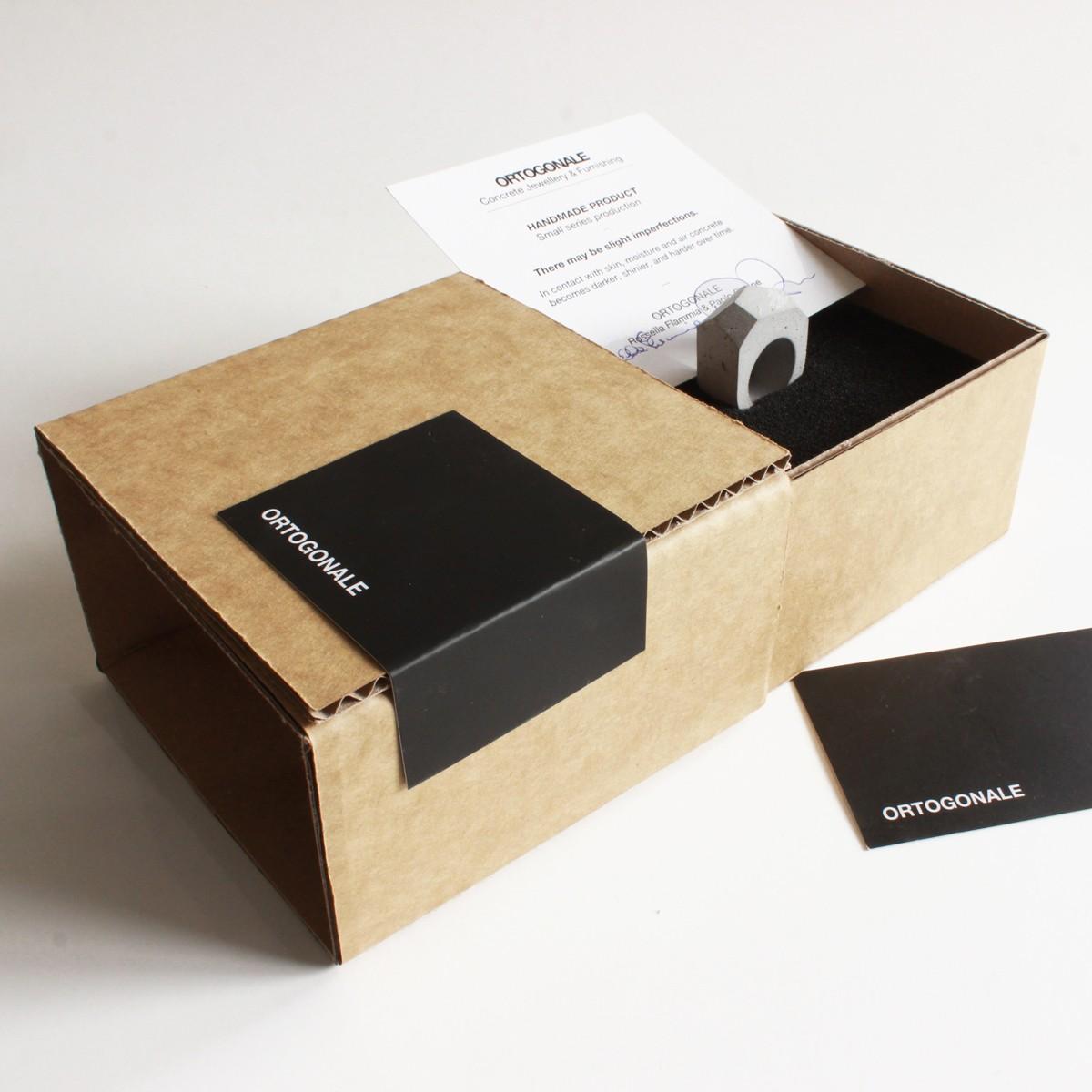 Beton Ring SPSF, moderner Ring, moderner Schmuck, minimalistischer Schmuck.  by ORTOGONALE