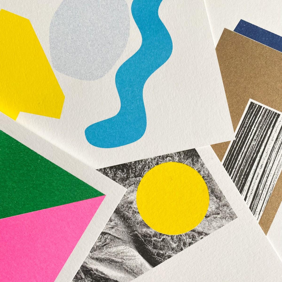 Risographie Postkarten – WUNDERTÜTE GRAFISCH     – HERR & FRAU RIO