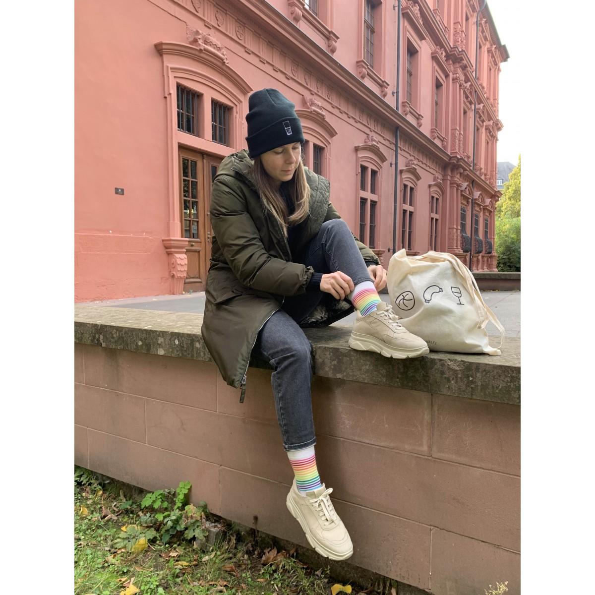 Charles / Mütze Weinschorle / handbestickte Beanie