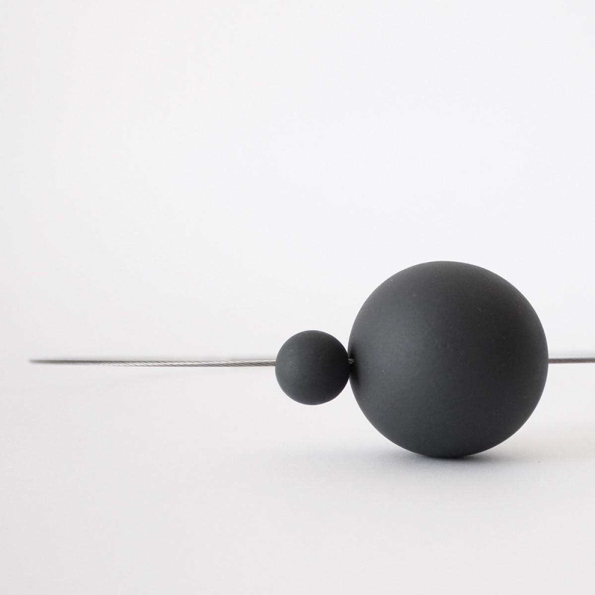 Halskette URANO Schwarze Porzellan [Limitierte Auflage: 50 Stücke] aus der SATELLITE Kollektion by ORTOGONALE