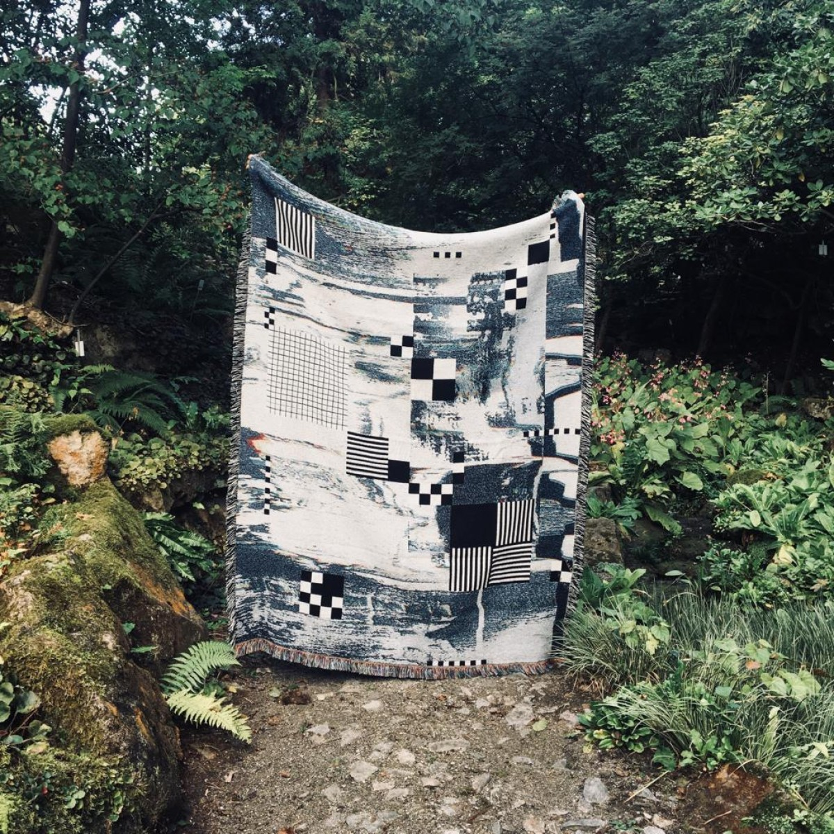 """hinzkunst Tagesdecke """"Schachtschneider"""" 137×178 cm (limitiert)"""