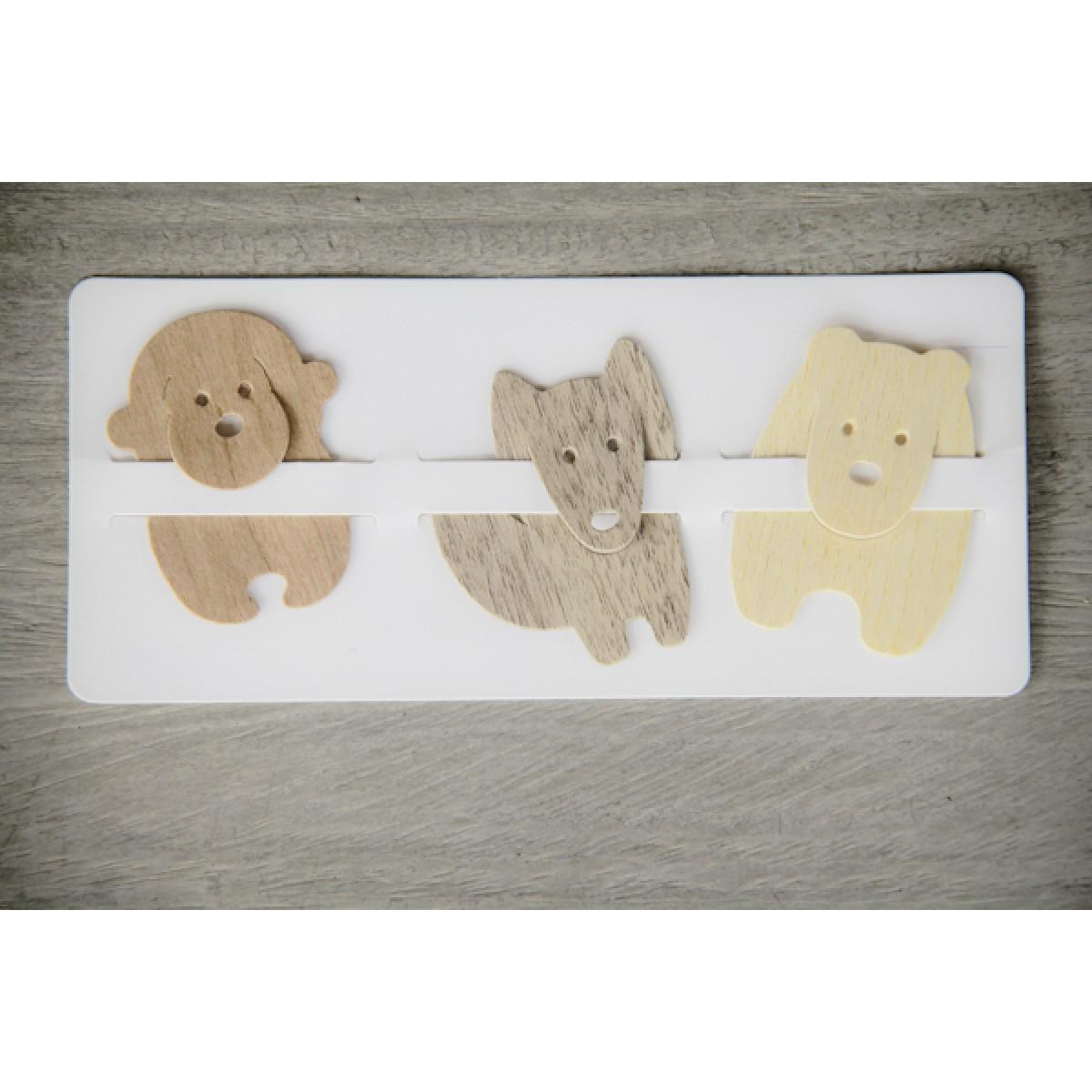 Lesezeichen aus Holz, handgefertigtes 3er-Set mit Tiermotiven BY COPALA