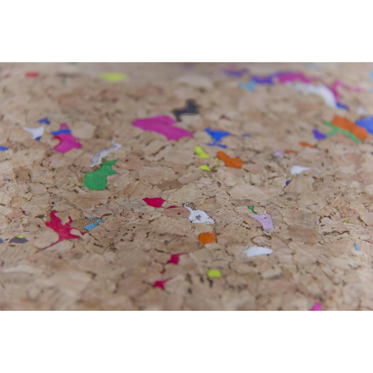 BY COPALA Kork-Laptop Hülle mit Farb-Akzenten, vegane MacBook Tasche 13 - 14 Zoll, wasserabweisend