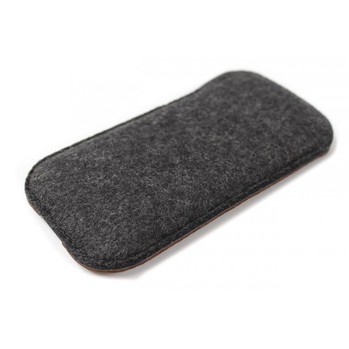 iPhone 7 / 6S Hülle KINGSTON Pflanzlich gegerbtes Leder, 100% Wollfilz