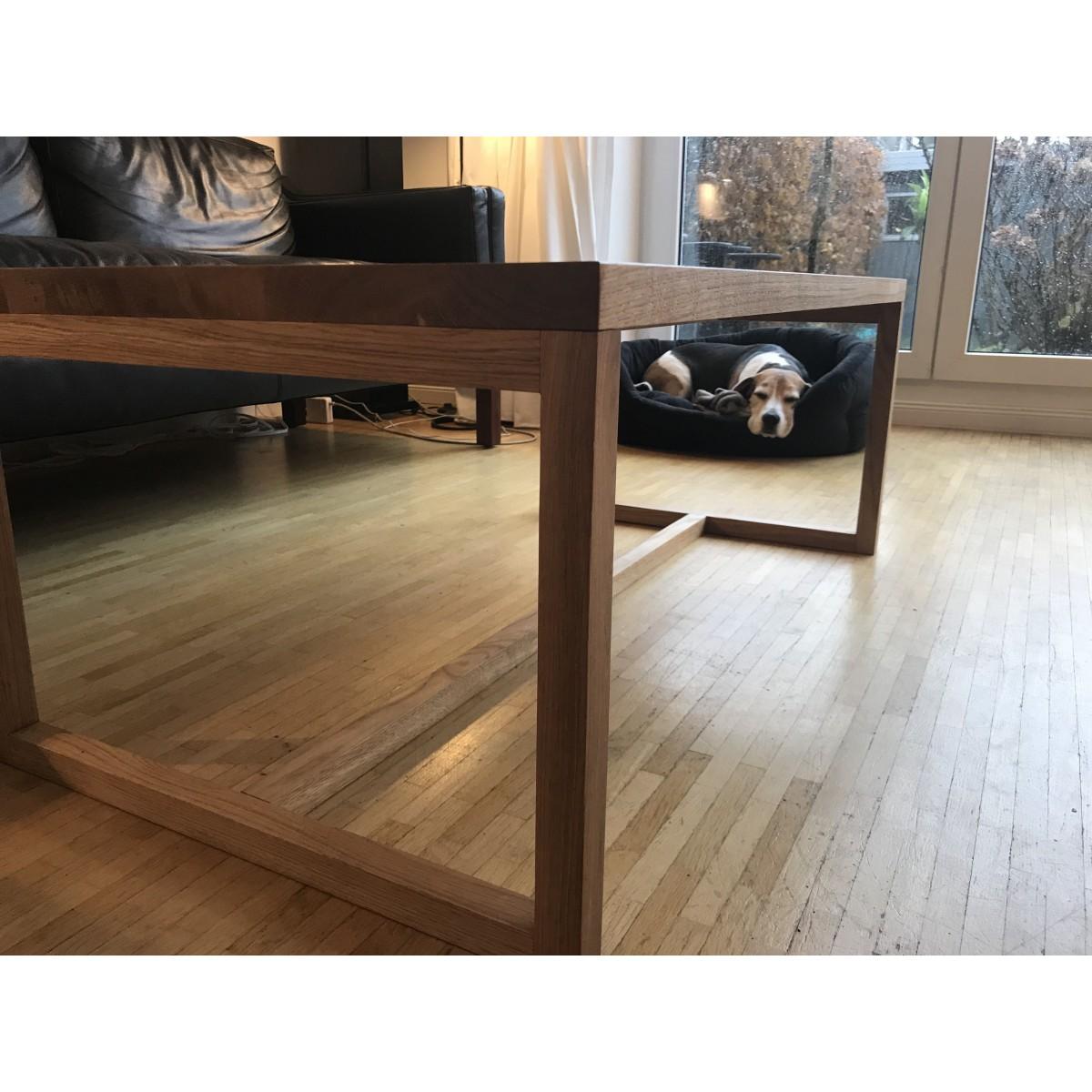 REKORD Couchtisch Holz Eiche 110 cm