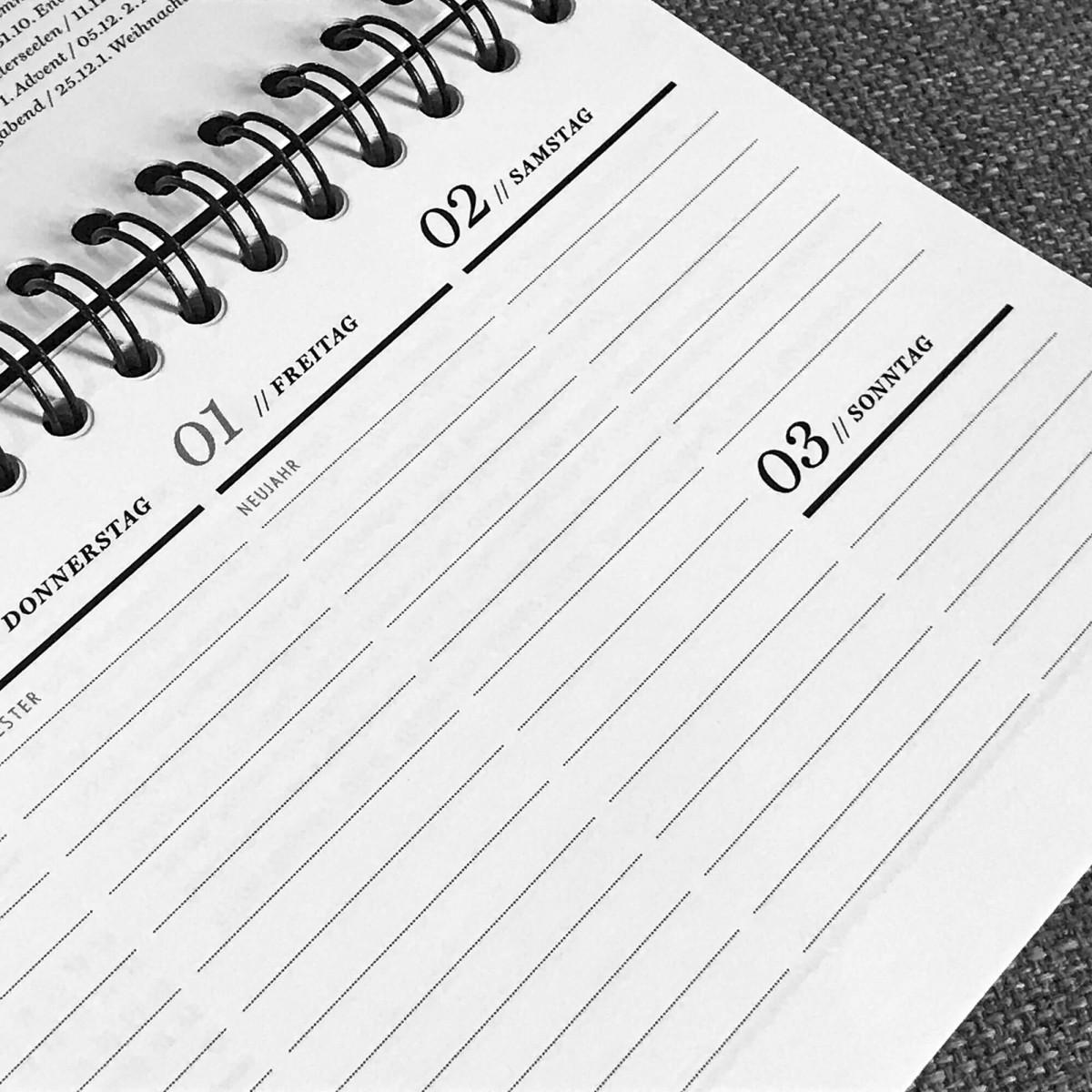 ACD DESIGN.BÜRO / Tisch-Wochenkalender 2021