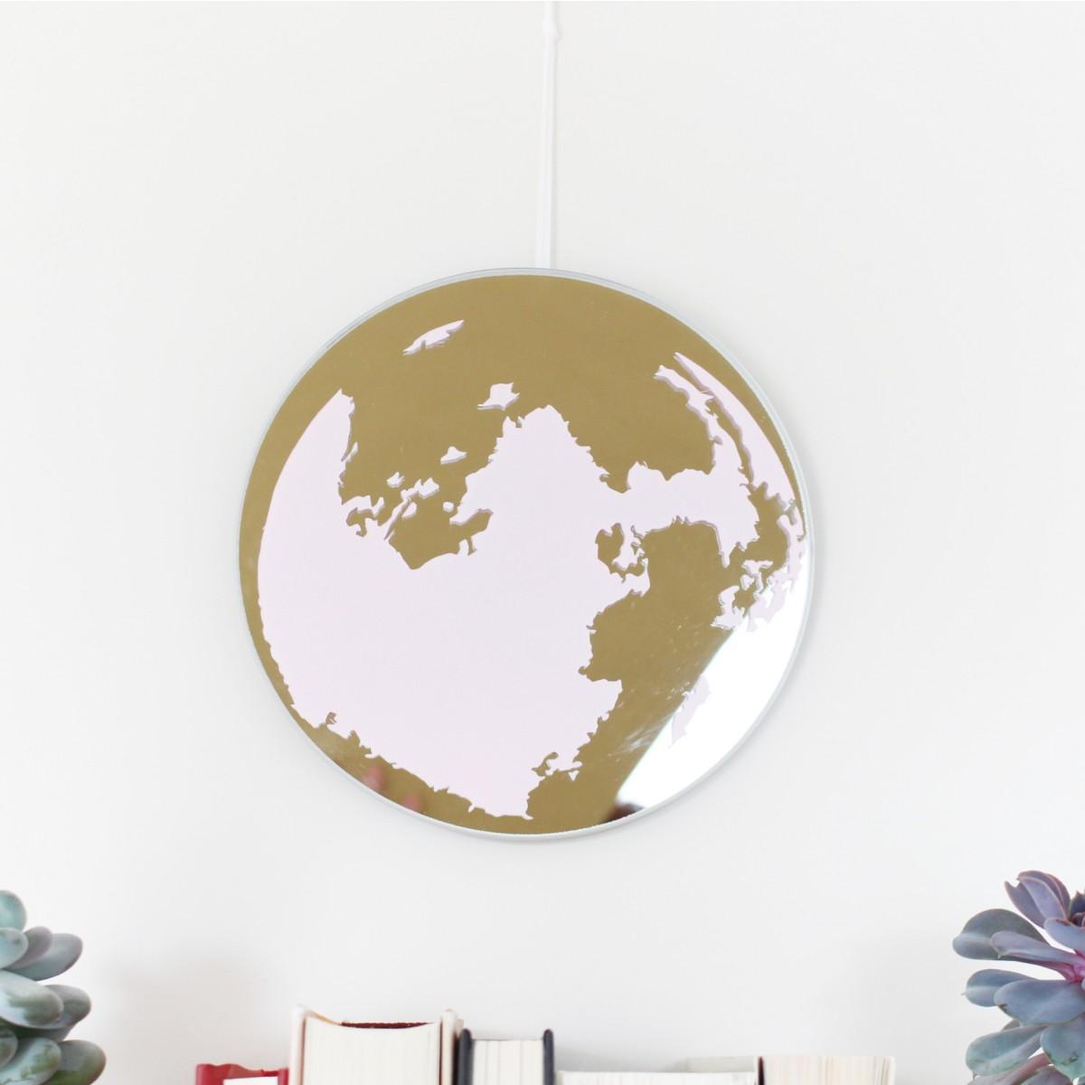 stahlpink Mond-Spiegel rosa