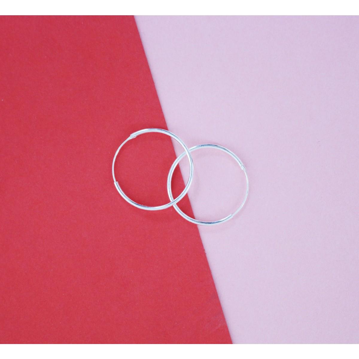 stahlpink – Creolen aus nachhaltigem recyceltem Silber, 12mm