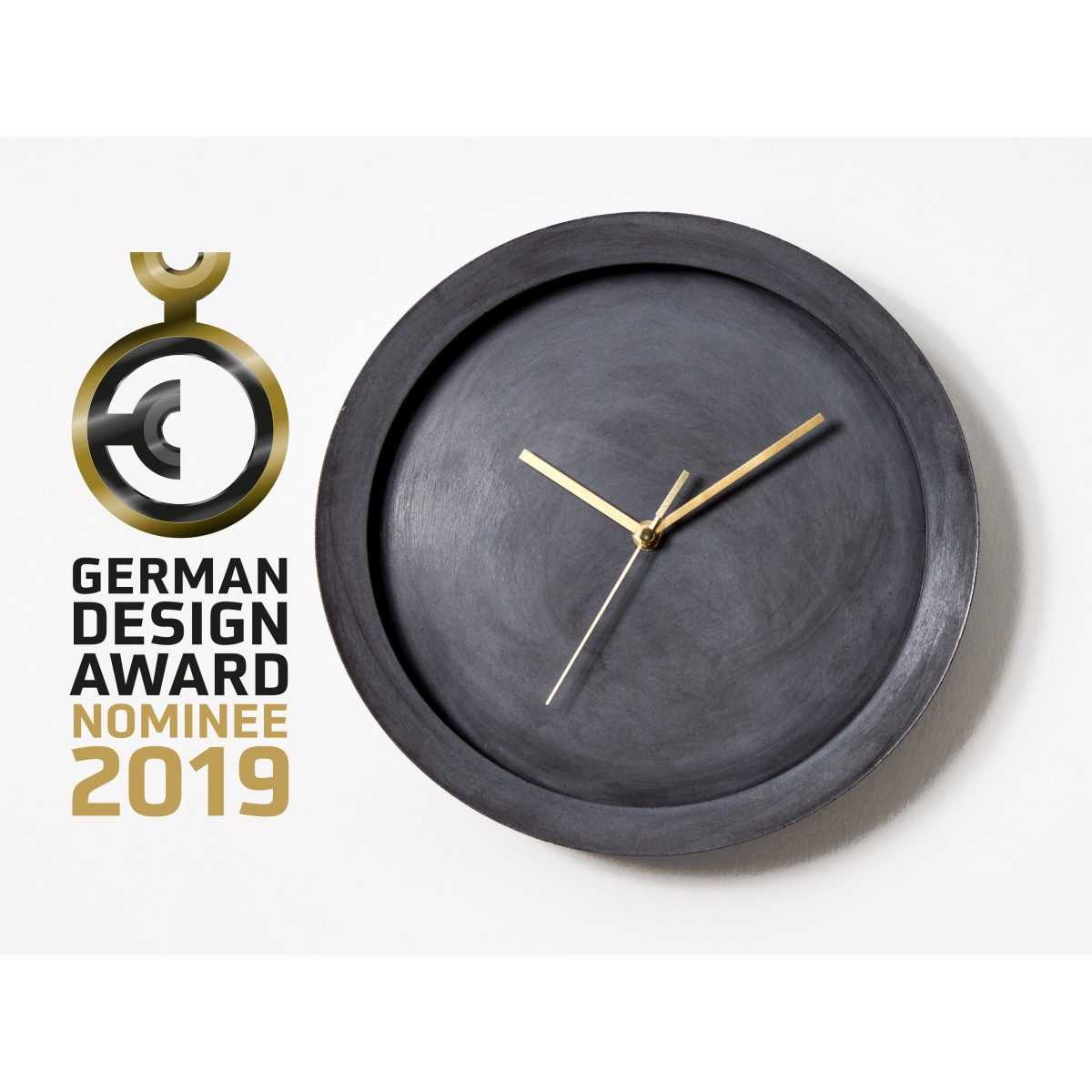 Beton Wanduhr Ovisproducts - moderne Uhr