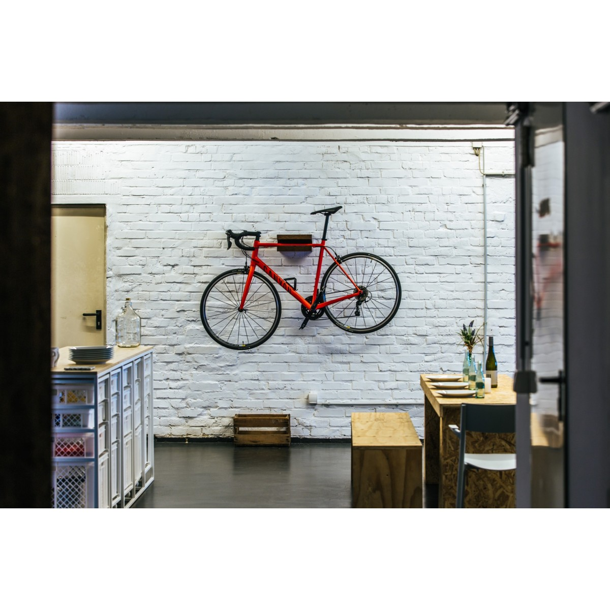 FRANZ JOSEF | Fahrrad Wandhalterung aus Holz | Fahrradwandhalter