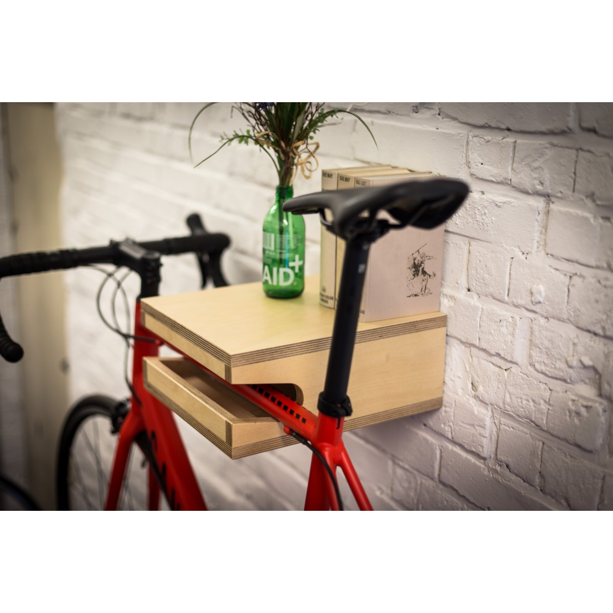 FRIEDRICH | Fahrrad Wandhalterung aus Holz | Fahrradwandhalter