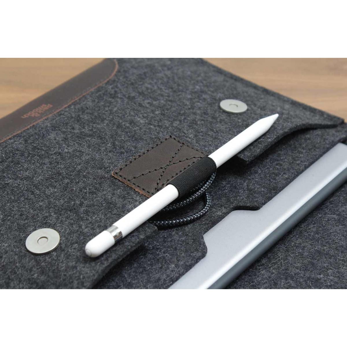 "iPad Pro 9.7"" Hülle, Sleeve ""Hampshire"" 100% Merino Wollfilz, pflanzlich gegerbtes Leder"