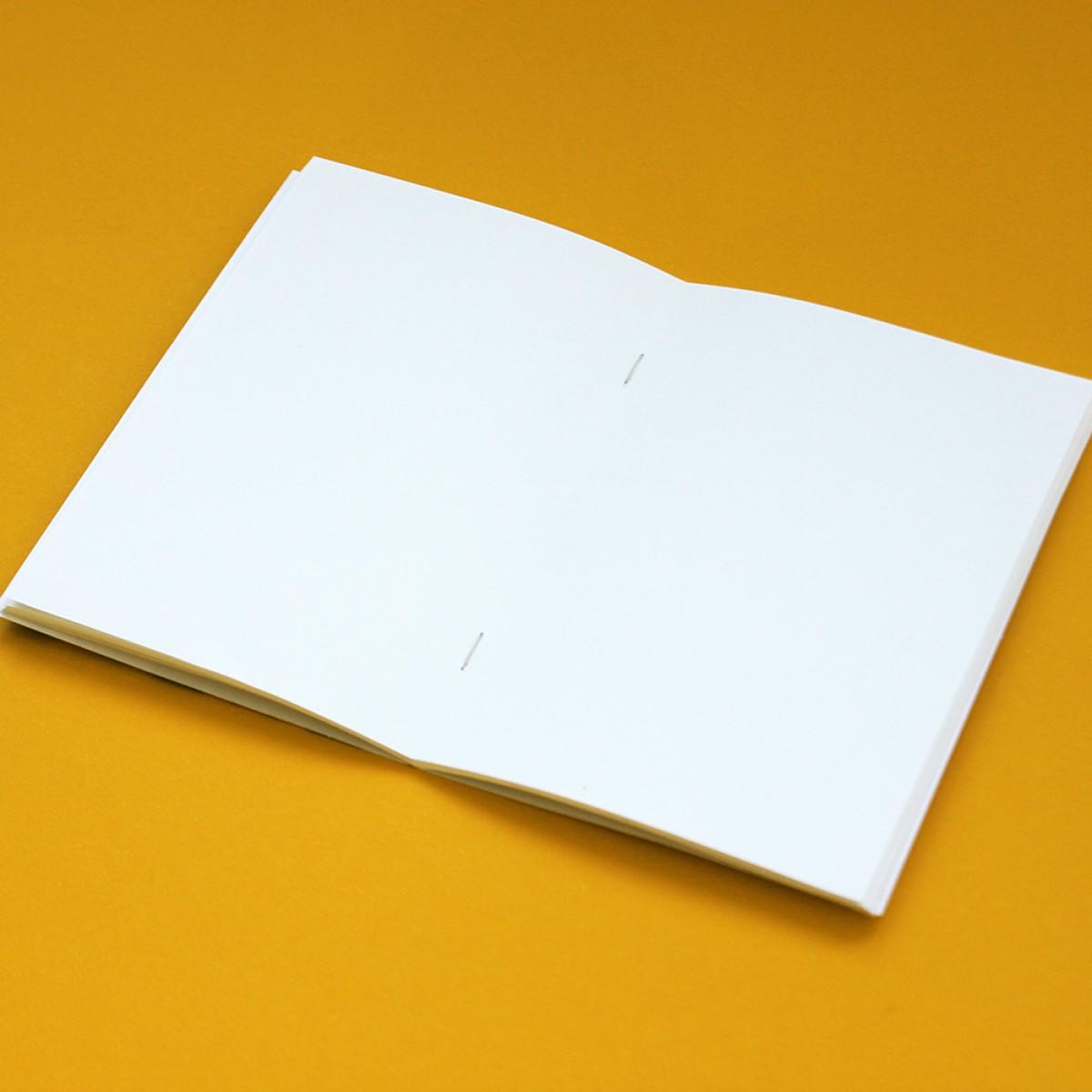 Edith schmuckes Papier Notizheft A6 mit Fadenbindung und Avocado Motiv