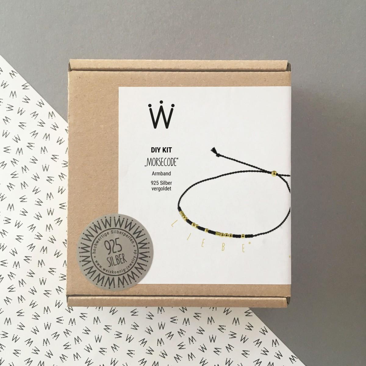 "DIY KIT ""MORSECODE"" Armband 925er Silber vergoldet – Weiskönig Jewelry"