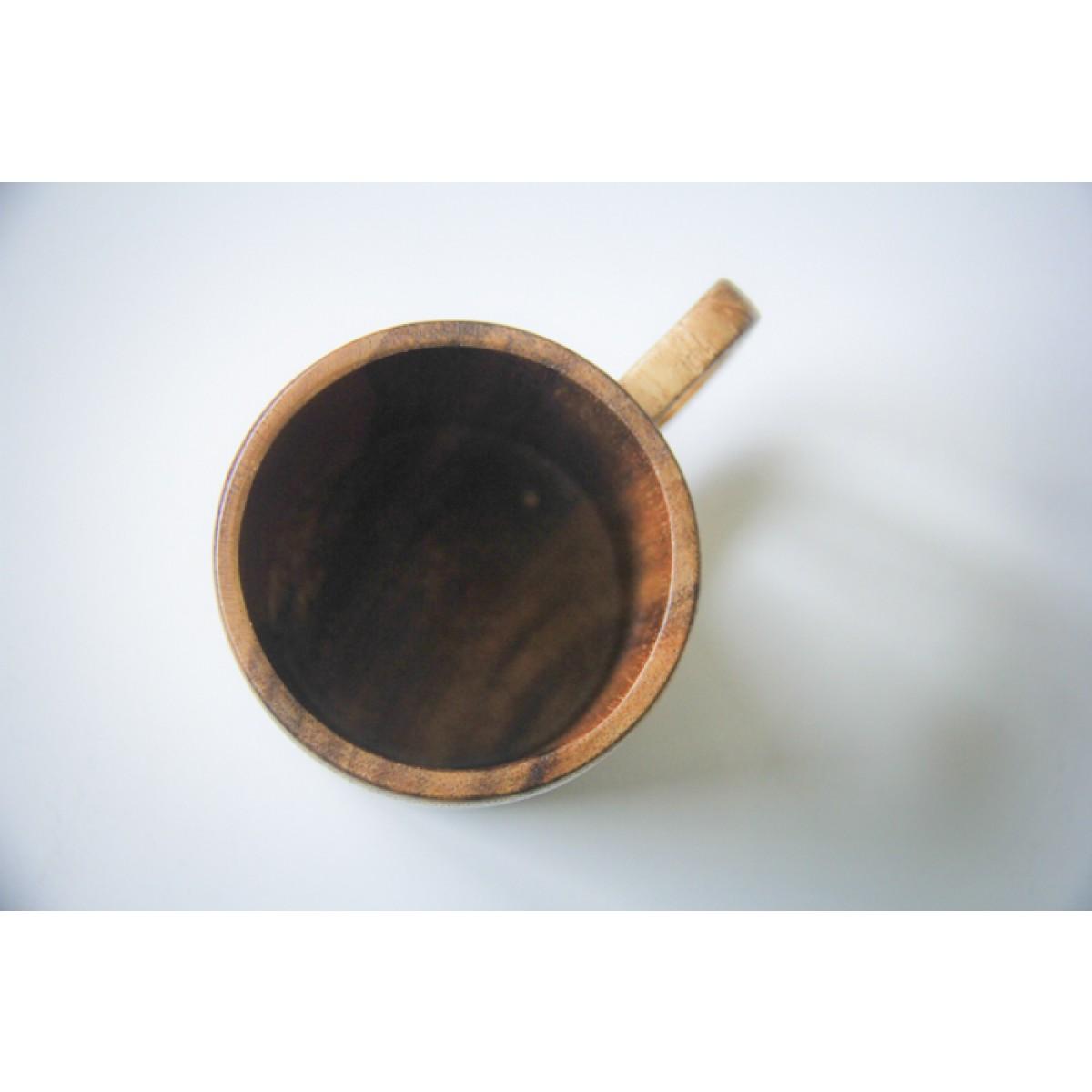 Kaffeetasse aus Akazie, handgefertigter Holz-Becher