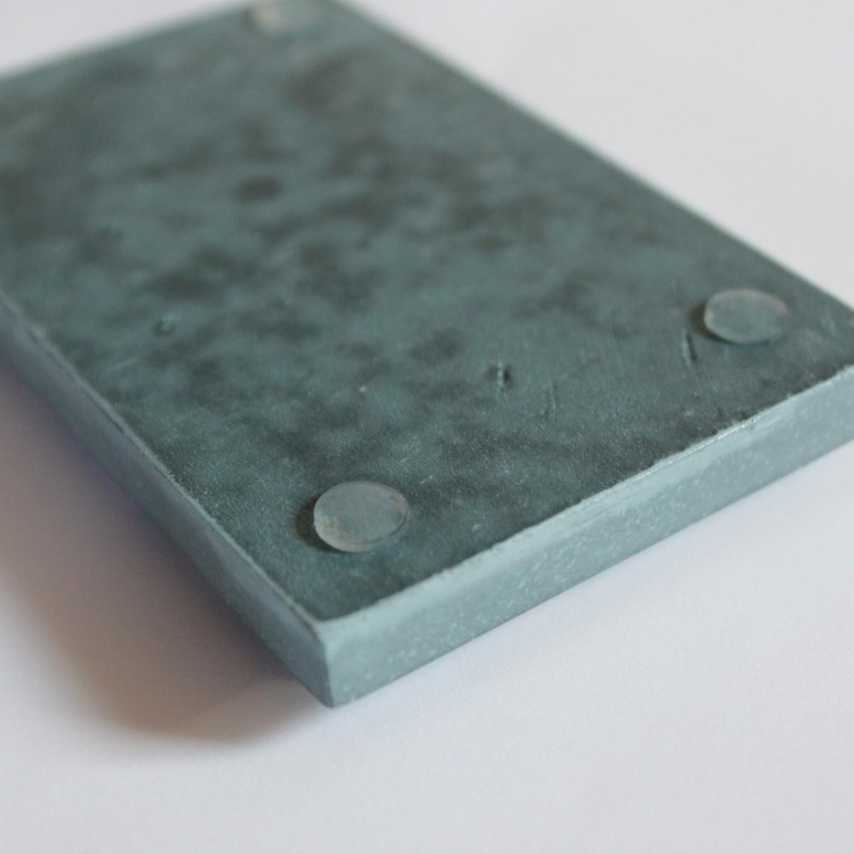 Seifenablage aus Porzellangips / Petrol-Skin / objet vague