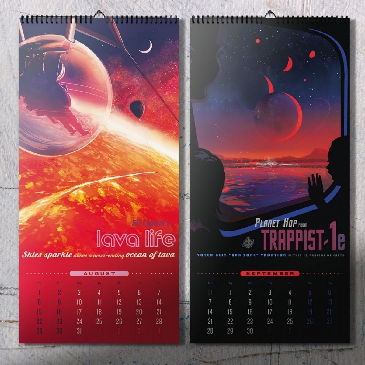 NASA Exoplanet Travel Bureau Series Kalender 2020 – DAC.design